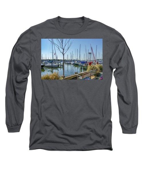 Morning At The Marina Long Sleeve T-Shirt