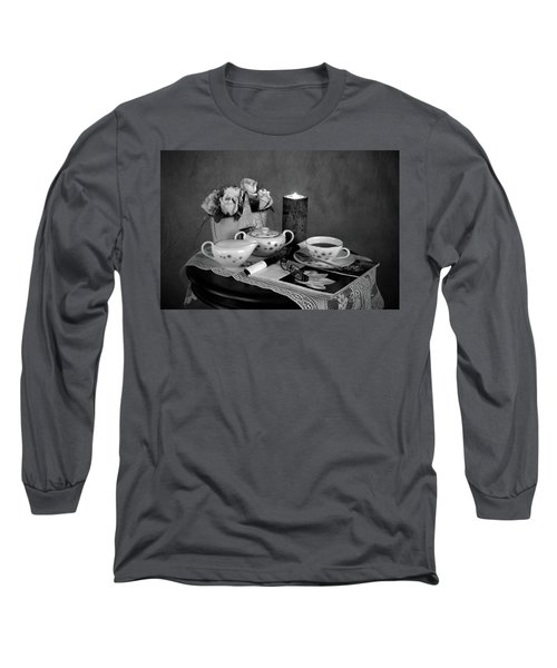 Morning Coffee And Reading Magazine Time Long Sleeve T-Shirt