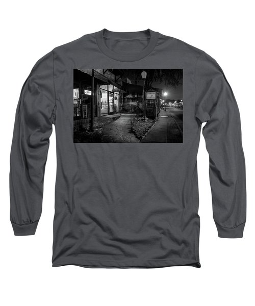 Morning Coffee In Black And White Long Sleeve T-Shirt