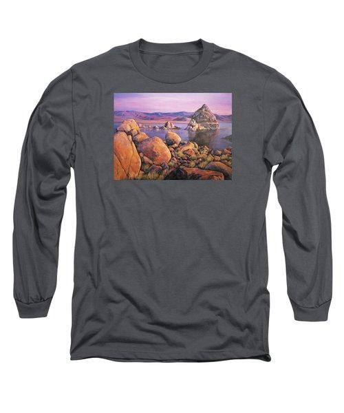 Morning Colors At Lake Pyramid Long Sleeve T-Shirt by Donna Tucker