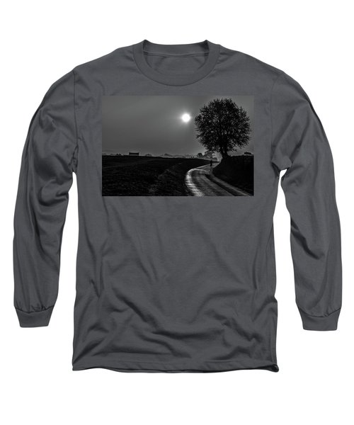 Morning Dew Bw Long Sleeve T-Shirt