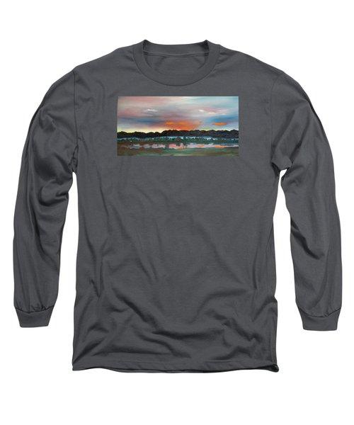 Morning Fog Silver Star  Long Sleeve T-Shirt