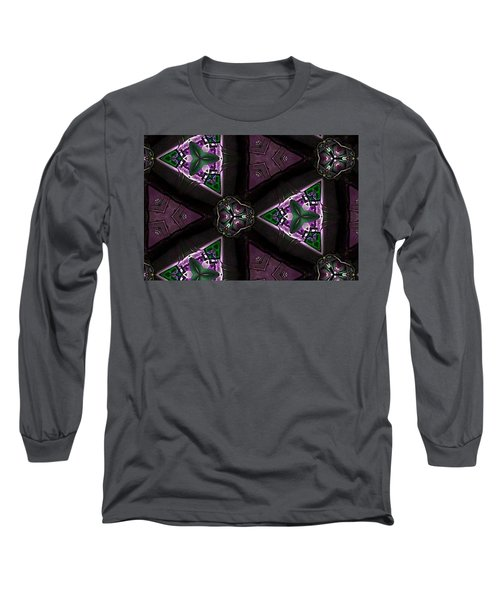Morning Glory Through A Kalaidascope  Long Sleeve T-Shirt