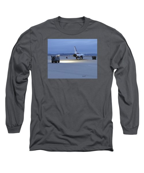 Long Sleeve T-Shirt featuring the digital art Morning Go by Walter Chamberlain
