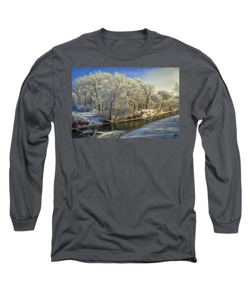 Morning Icing Along The Creek Long Sleeve T-Shirt