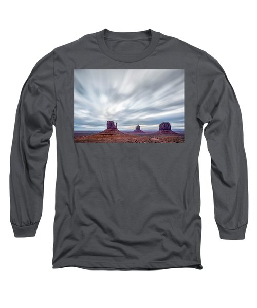 Morning In Monument Valley Long Sleeve T-Shirt by Jon Glaser