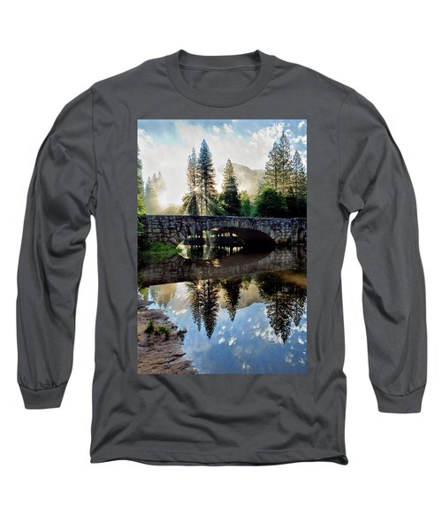 Morning Light Along The Merced River Long Sleeve T-Shirt