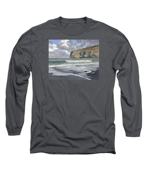 Morning Light On Pencannow Point Long Sleeve T-Shirt