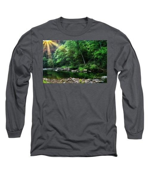 Morning Light On Williams River  Long Sleeve T-Shirt