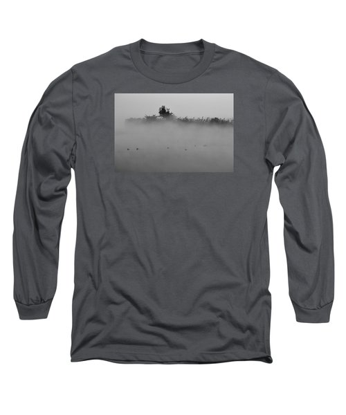 Morning Mist At Wetland Of Harike Long Sleeve T-Shirt