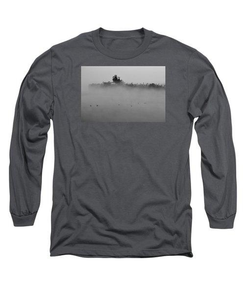 Morning Mist At Wetland Of Harike Long Sleeve T-Shirt