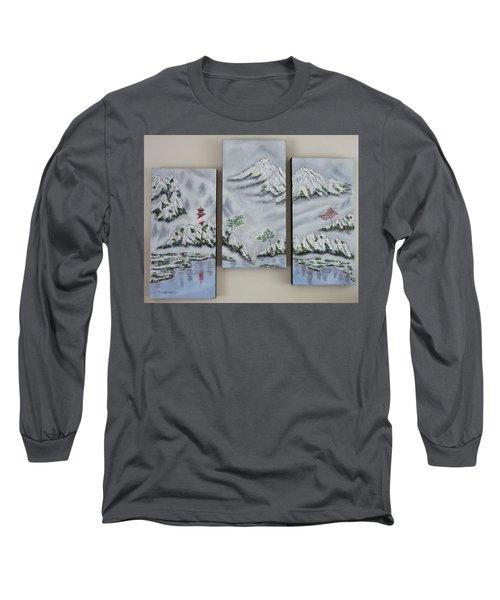 Morning Mist Triptych Long Sleeve T-Shirt