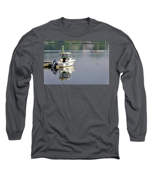 Long Sleeve T-Shirt featuring the photograph Morning On The Navesink River 2 by Gary Slawsky