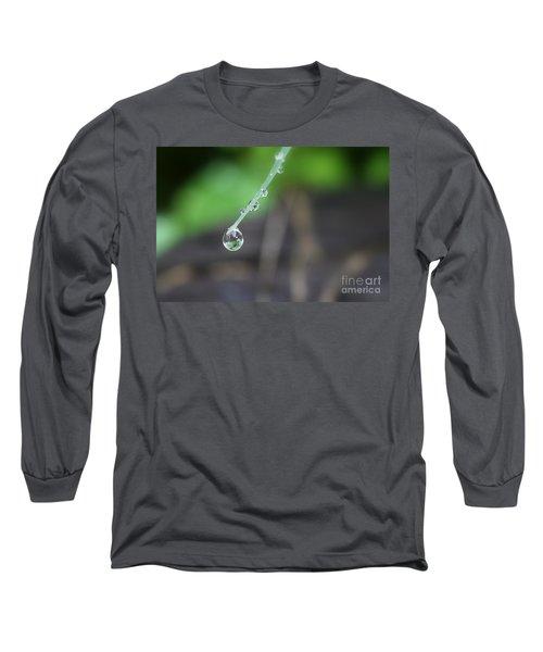 Morning Rain Drops Long Sleeve T-Shirt by Kym Clarke