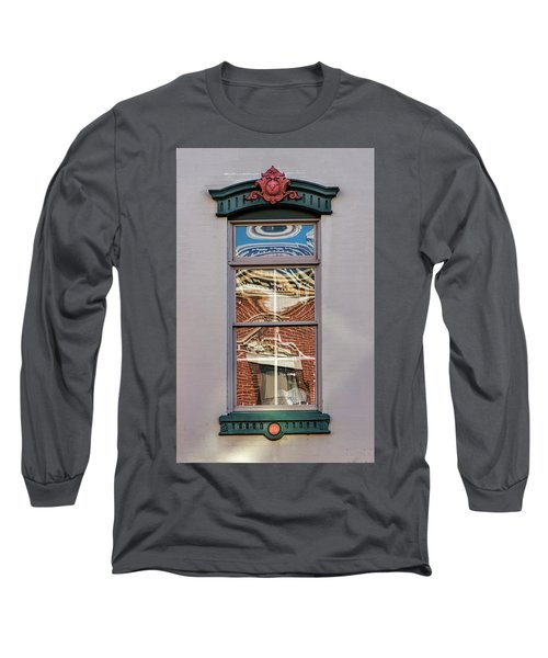 Morning Reflection In Window Long Sleeve T-Shirt by Gary Slawsky