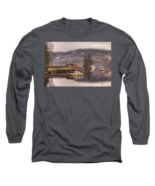 Morning Reflections Of Loch Ness Long Sleeve T-Shirt by Ian Middleton