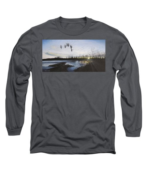 Morning Retreat - Pintails Long Sleeve T-Shirt
