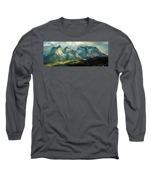 Morning Shadows Long Sleeve T-Shirt by Andrew Matwijec