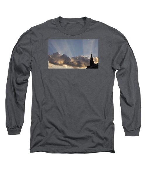 Long Sleeve T-Shirt featuring the photograph Morning Sky by Inge Riis McDonald