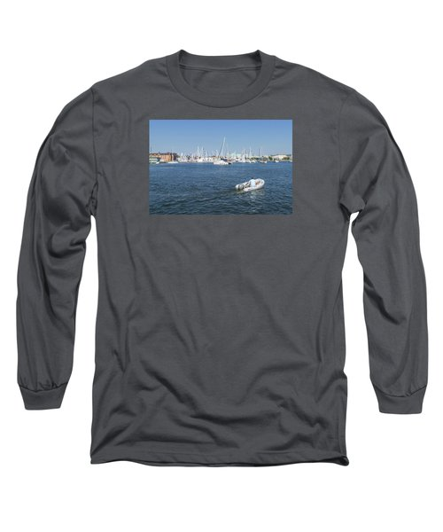 Long Sleeve T-Shirt featuring the photograph Solitude On The Creek by Charles Kraus