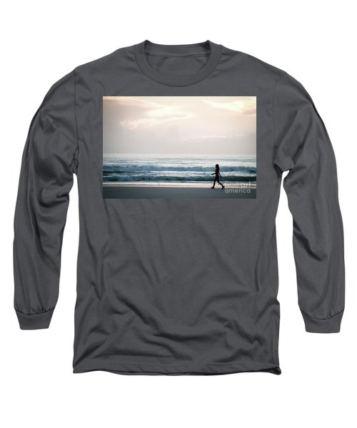 Morning Walk With Color Long Sleeve T-Shirt