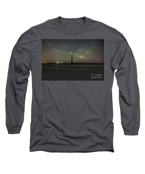 Morris Island Light House Milky Way Long Sleeve T-Shirt