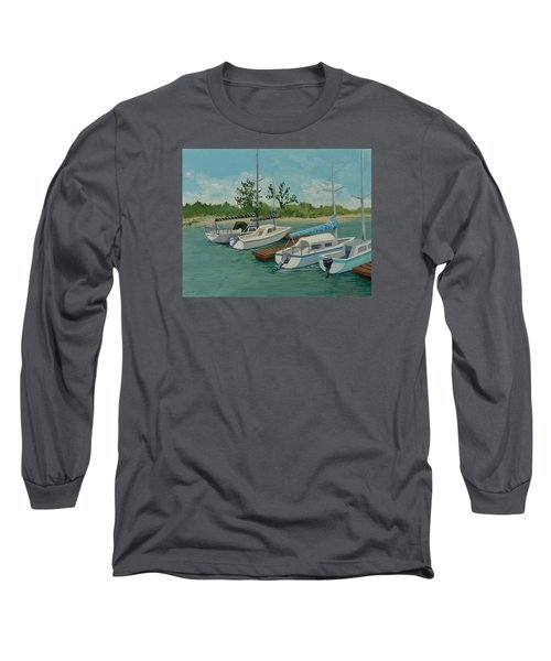 Long Sleeve T-Shirt featuring the painting Morro Bay State Park Ca by Katherine Young-Beck