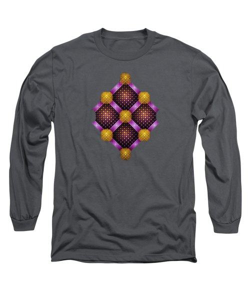 Mosaic - Purple And Yellow Long Sleeve T-Shirt
