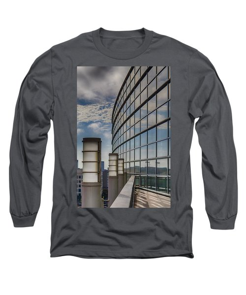 Long Sleeve T-Shirt featuring the photograph Moscone West Balcony by Darcy Michaelchuk
