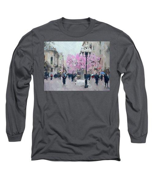 Moscow Arbat Street View Long Sleeve T-Shirt