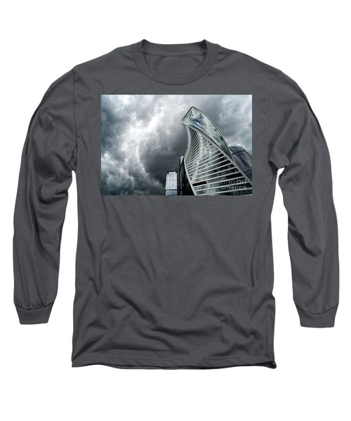 Moscow City And Storm Long Sleeve T-Shirt by Anastasy Yarmolovich