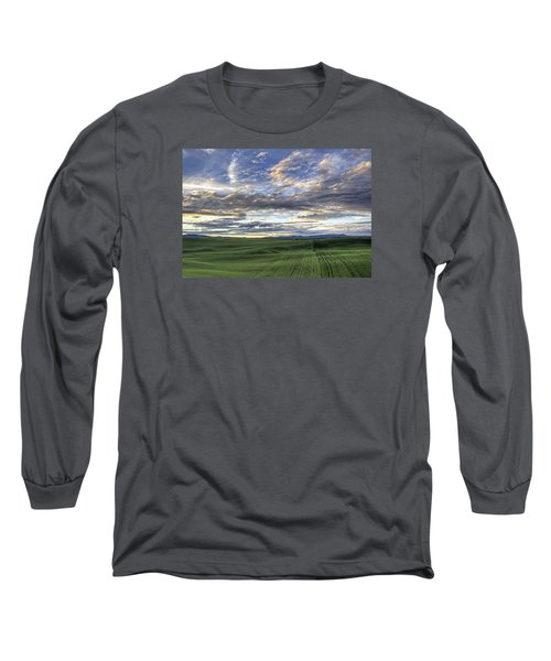 Moscow Mtn Sunset Long Sleeve T-Shirt