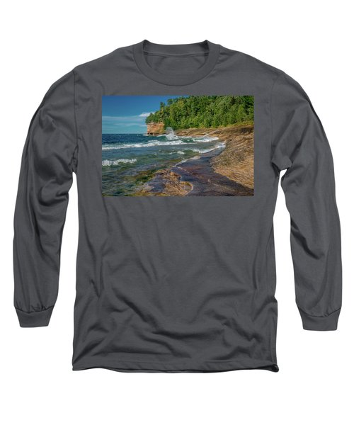 Mosquito Harbor Waves  Long Sleeve T-Shirt