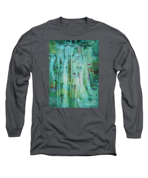 Long Sleeve T-Shirt featuring the painting Mossy Falls by Elizabeth Carr