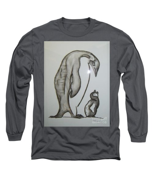 Mother And Child Penguins Long Sleeve T-Shirt