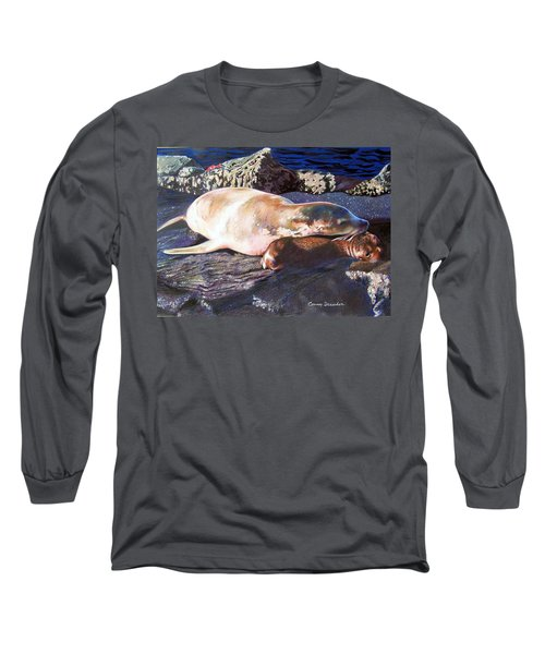 Mother And Child Sea Lion Long Sleeve T-Shirt