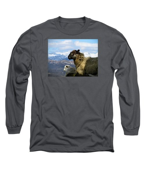 Mother And Lamb Long Sleeve T-Shirt by RKAB Works