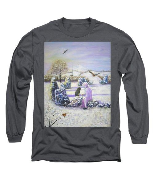 Mother Of Air Goddess Danu - Winter Solstice Long Sleeve T-Shirt