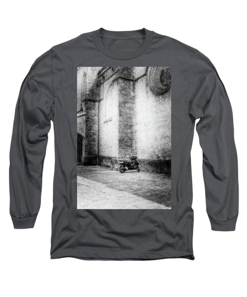 Motorcycles Also Like To Pray Long Sleeve T-Shirt by Celso Bressan