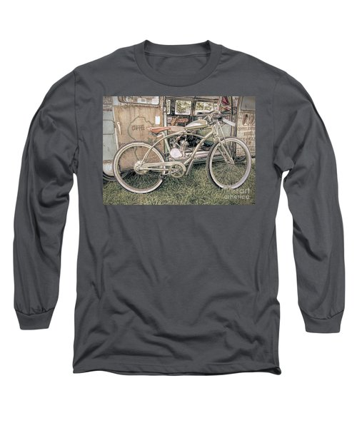 Motorized Bike Long Sleeve T-Shirt by Marion Johnson