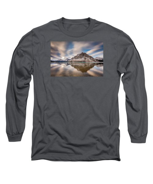 Mount Crowfoot Reflection Long Sleeve T-Shirt
