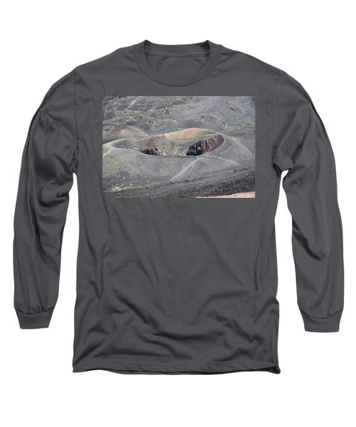 Mount Etna Caldera Long Sleeve T-Shirt
