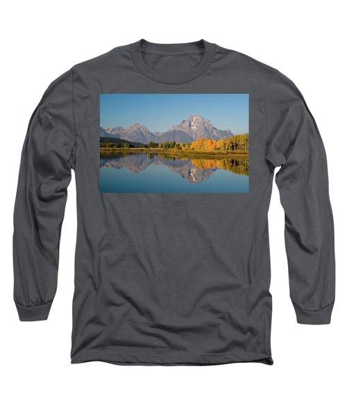 Long Sleeve T-Shirt featuring the photograph Mount Moran by Steve Stuller