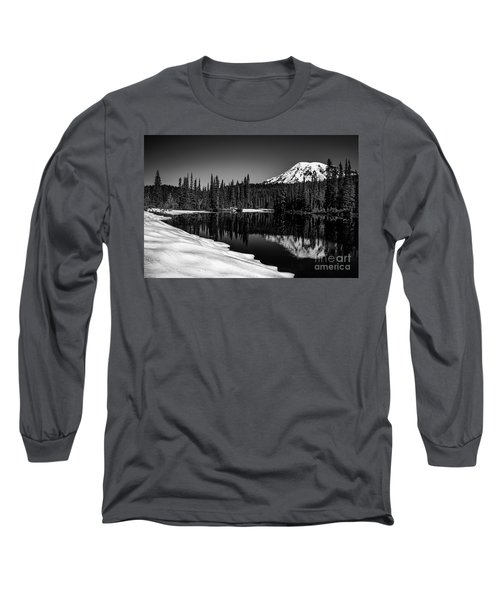 Mount Rainier Reflection Long Sleeve T-Shirt