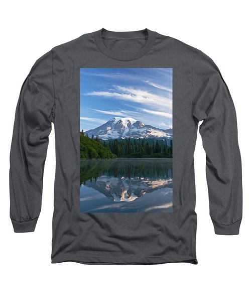 Mount Rainier Reflections Long Sleeve T-Shirt by Greg Vaughn - Printscapes