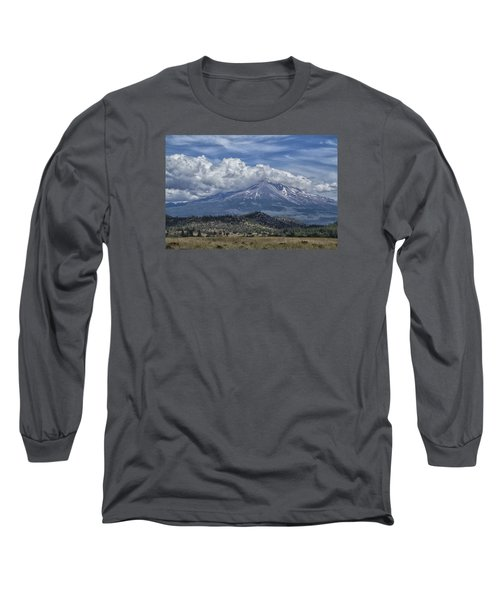 Long Sleeve T-Shirt featuring the photograph Mount Shasta 9950 by Tom Kelly