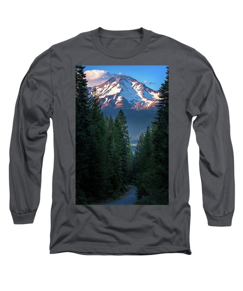 Mount Shasta - A Roadside View Long Sleeve T-Shirt