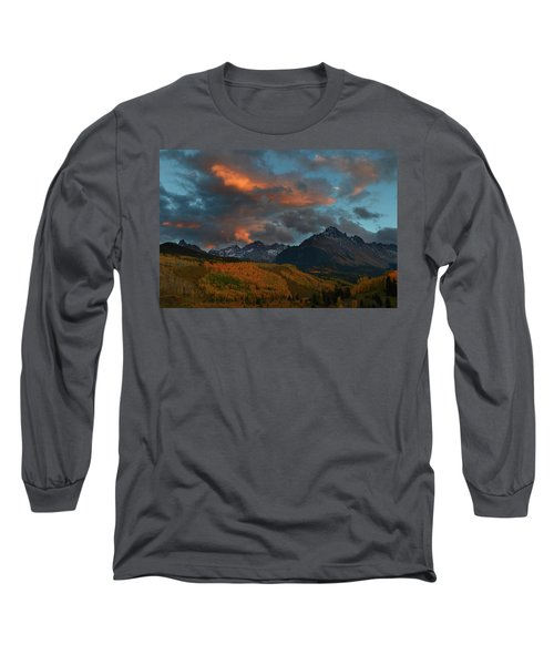 Mount Sneffels Sunset During Autumn In Colorado Long Sleeve T-Shirt by Jetson Nguyen