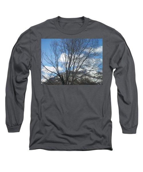 Mountain Backdrop Long Sleeve T-Shirt
