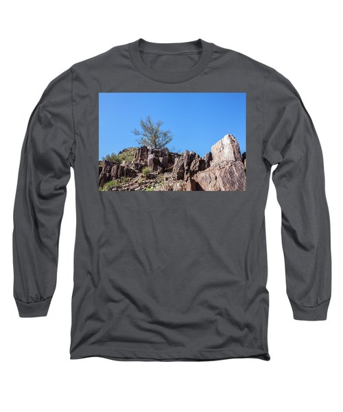 Mountain Bush Long Sleeve T-Shirt by Ed Cilley
